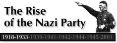 A timeline that demonstrates the rise of the National Socialist German Worker's party (aka Nazi party)