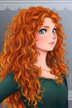 The Brave Merida. Princess of DunBroch. Heiress to the throne.