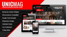 UnicMag Premium WordPress Magazine theme brings to customers who are planning to build magazines, review sites, newspapers, or blogs.    Designed and developed by professional staff, this the...