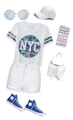 """Untitled #1093"" by sylviabunny ❤ liked on Polyvore featuring Aéropostale, Topshop, Converse, Rebecca Minkoff, Casetify, women's clothing, women, female, woman and misses"