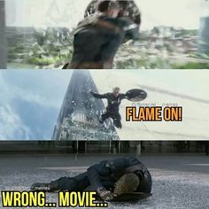I guess Chris Evans still misses being Human Torch . . . Please follow me: -@marvel_fanreal