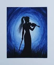 Image result for silhouette painting very easy