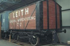 Leith General Warehousing Co. Covered 10 ton Grain Hopper Wagon - No. 120 - This wagon is not complete internally. It originally had sloping floors and bottom hopper doors. It was part of a large fleet of similar vehicles operated by the company.