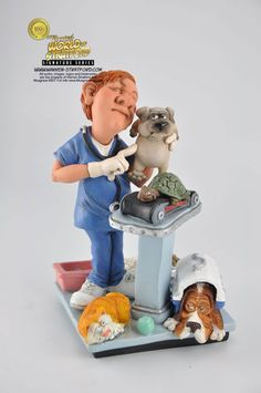 This is a Veterinarian collectible figurine. It is the perfect gift for Fathers Day, retirement, birthday or event. Warren Stratford http://www.warren-stratford.com/who-is-warren-stratford/  is the master of the collectible figurine.  Warren Stratford www.warren-stratford.com is the world's most loved comic artist. His collectible figurines are sold in the best retail and online shops in the world.