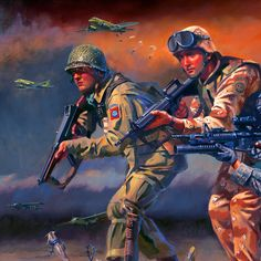 US Paratroopers answering the call of duty