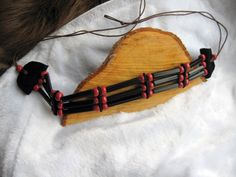 Native American style black chocker necklace by TribalHandmade