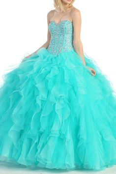 mint blue quince dresses | Quinceanera ball gown for Women. Mint/Sea Green.