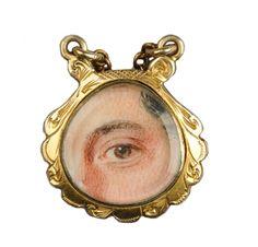 FD GALLERY | Rare & Vintage | A Gold and Enamel 'Lover's Eye' Pendant, circa 1830