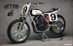 Rotax 600 Flat Track Jay's Ride - From Fast House #motorcycles #flattracker #motos   caferacerpasion.com