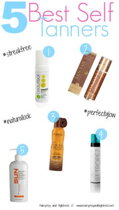 Looking for the best self tanner? Hairspray and High Heels is giving you the top 5, check them out!