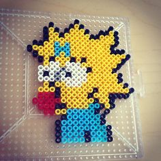 Maggie Simpson hama beads  by smargetts
