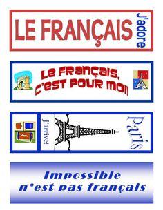 Signets gratuits pour la classe de français.