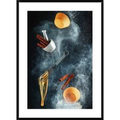 Global Gallery 'Kitchen Mess: Cinnamon Cupcake' by Dina Belenko Framed Photographic Print Size: