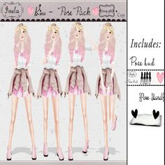 Free Rina Poses Pack Hud And Stand Second Life. Use the landmark at the end of this post to get to the mainstore for this gift. More gifts and lucky letters