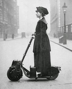 vintage everyday: Lady Florence Norman, a suffragette, on her motor-scooter in 1916