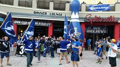 Sticks of Fire about to March to the game! Stanley Cup Finals, Tampa Bay, Lightning, Sticks, Hockey, Times Square, March, Fire, Field Hockey