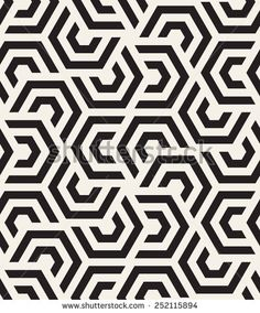 Vector seamless pattern. Modern stylish texture. Repeating geometric tiles with hexagonal elements - stock vector