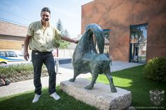 Hódmezővásárhely - V. Nagy Nándor  - Kecske Hungary, Lion Sculpture, Statue, Art, Art Background, Kunst, Gcse Art, Sculptures, Sculpture