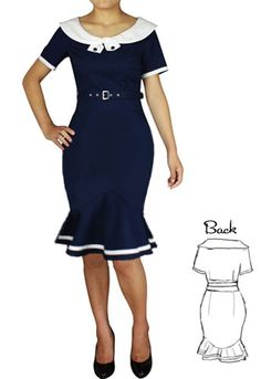 1940s Inspired Wiggle Dress by Amber Middaugh #Rockabilly Dress #1950s #Vintage