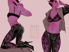 Leather And Lace by Dyemelikeasunset on DeviantArt Female Character Design, Character Design Inspiration, Character Concept, Character Art, Concept Art, Dnd Characters, Fantasy Characters, Female Characters, Gato Anime