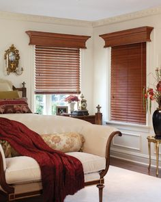 Cornices Enhance The Look Of Wood Blinds