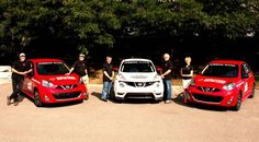 Deux Nissan Micra 2014 et une Nissan Juke RS 2014 au Rallye Targa New-Foundland