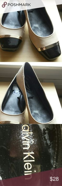Calvin Klein Flat!!!!! Super Cute CK Beige and Black Flat!!! Excellent condition! !! Used twice! Calvin Klein Shoes Flats & Loafers