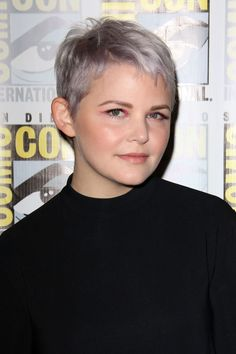 """[link url=""""http://www.glamourmagazine.co.uk/person/ginnifer-goodwin""""]Ginnifer Goodwin[/link] ticks two trend boxes with this lilac-tinted grey [link url=""""http://www.glamourmagazine.co.uk/gallery/celebrities-with-pixie-crops-hairstyle""""]pixie crop[/link]. If you're currently working a short 'do now is the perfect time to get experimental with the colour."""