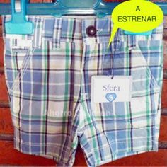 Pantalón corto niño 3-6 meses Sfera, 6.95€ NUEVO A ESTRENAR www.ahorrochildren.es