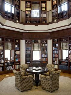 Traditional Home Office Design, Pictures, Remodel, Decor and Ideas - page 35 Home Library Design, Home Office Design, House Design, Library Ideas, Library Images, Traditional Family Rooms, Traditional House, Traditional Kitchens, Traditional Bedroom