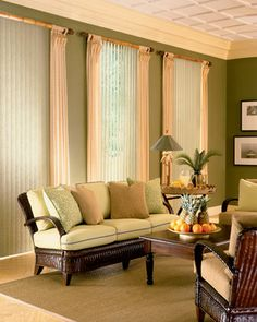 Edmonton, Sherwood Park & Area Window Treatments/Coverings: Horizontal Aluminum, Wood & Faux Wood Blinds, & Vertical Blinds in various fabrics & materials. Decor, Contemporary Vertical Blinds, Vertical Window Blinds, Vertical Blinds, Contemporary Living Room, Interior Design, Home Decor, Window Coverings, Blinds For Windows