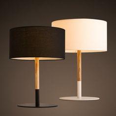kC灯具 北欧现代简约纯色木质台灯创意个性温馨卧室床头灯-tmall.com天猫