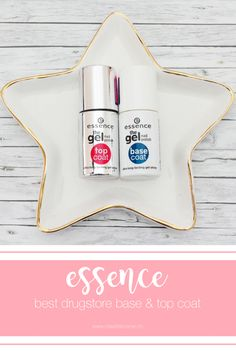 Best drugstore base and top coat: essence the gel nail polish base and top coat