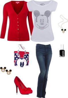 mickey mouse Outfit<3 Not sure about those shoes around the parks though :o)
