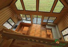 Proiect Doralnic 17 Case din busteni - Cabane din lemn Home Fashion, Cabana, Deck, Mansions, Case, House Styles, Outdoor Decor, Photography, Home Decor