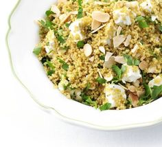 Use quinoa instead of couscous to make a delicious gluten-free salad