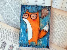 The very smarty Mr Fox by Danita Art, via Flickr