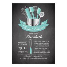 Modern Chalkboard 5x7 Stock The Kitchen Bridal Shower Invitations. Artwork designed by invitationstop.