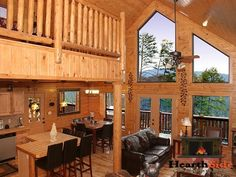 SWIMMING POOL ACCESS, PREMIER QUALITY, WONDERFUL MOUNTAIN VIEWS -- You will understand where this cabins gets its name when you look at this awesome log cabin and the incredible views. The loving attention to detail in this custom-built log home will make you know you are appreciated. With its private setting on top of a 2.5 acre tract, you have total privacy and parking for about 6 vehicles. #Pigeon #Forge #family #vacation #getaway