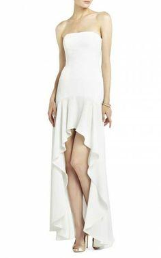 Bcbg Floral-Applique Strapless Cocktail Dress