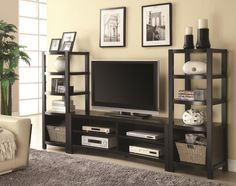 Curved Front Entertainment Center