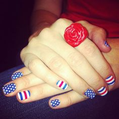 Nails 4th of July