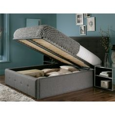 Sleep Sanctuary UK // Mayfair Upholstered Ottoman Storage Bed - $499.00