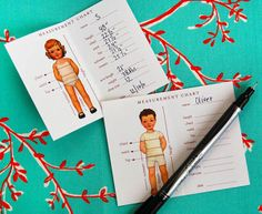 Mom needed these when sewing for the kids...Oliver + S Measurement Chart free printable...sew cute