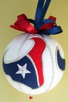 DIY Houston Texan Ornament I want some someone message me about these
