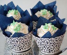Como fazer forminhas para doces de casamento: Combinações de forminhas também ficam muito fofas!
