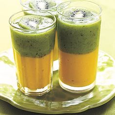 Green Tea-Kiwi and Mango Smoothie