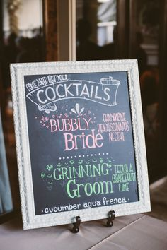 Customized Bride and Groom Cocktail Reception