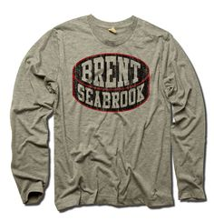 Brent Seabrook Officially Licensed NHLPA Chicago Men's Long Sleeve Tee S-2XL Brent Seabrook Black Puck