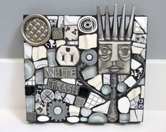 White Trash. (Original Handmade Mixed Media Mosaic Art by Shawn DuBois)
